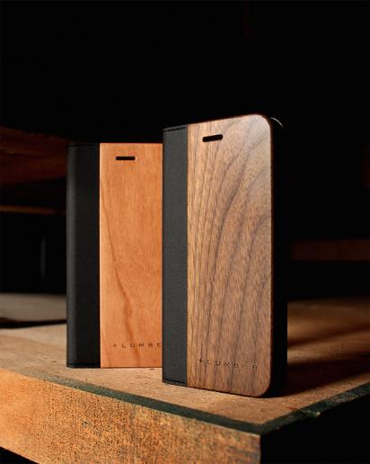 手帳型の木製アイフォンケース、iPhone SE2/8/7/6専用フリップケース