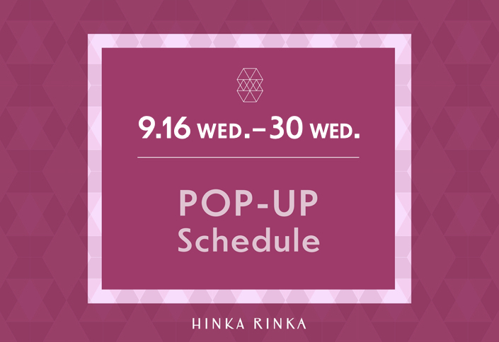 HINKA RINKA POP-UP schedule