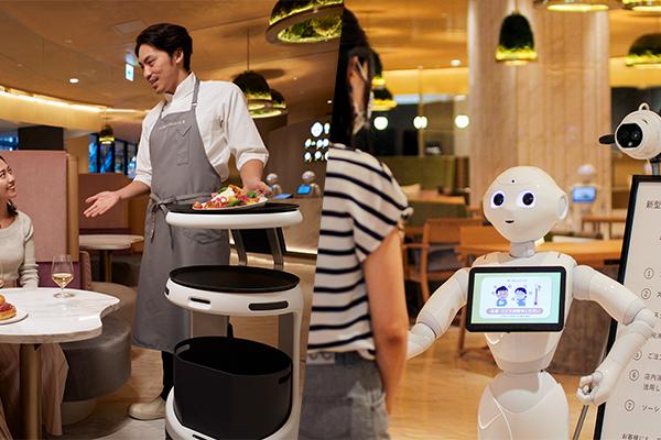 Pepper PARLORに新しいロボットが登場! 配膳・運搬ロボット「Servi」と「サーマルPepperパック」