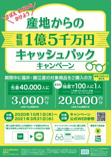 鯖江製メガネを買うとキャッシュバック「さばえ めがねをかけようキャンペーン」開催中!