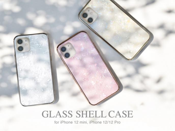 きらきらと輝くシェル風iPhoneケース☆iPhone12/12 Pro/12 mini対応!