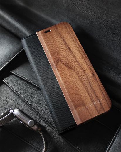 手帳型の木製アイフォンケース、iPhone 12/12Pro専用フリップケース