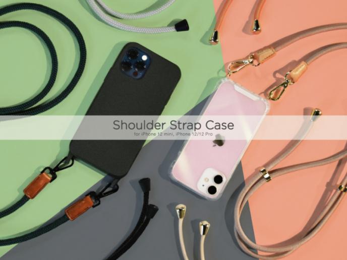 ストラップ付きiPhoneケース☆Shoulder Strap Case