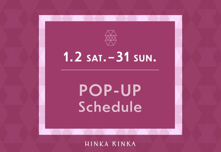 HINKA RINKA POP-UP schedule