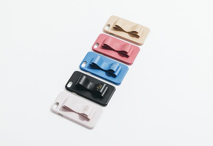 【3F】<FOX>リボン型のリング・スタンドつきiPhoneケース