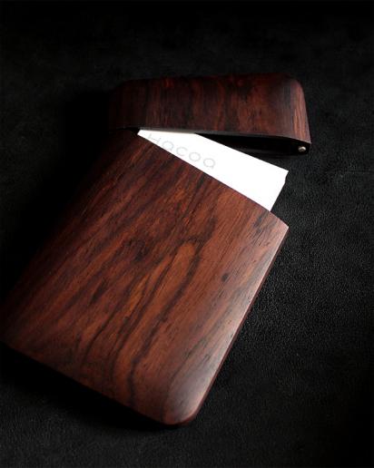 【プレミアム】おしゃれな木製名刺入れ「Card Case Gentle(ローズウッド)」