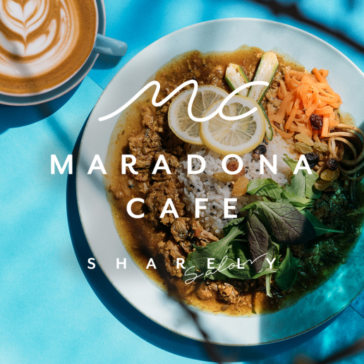 4F NEW OPEN!! MARADONA CAFE by salon Sharely