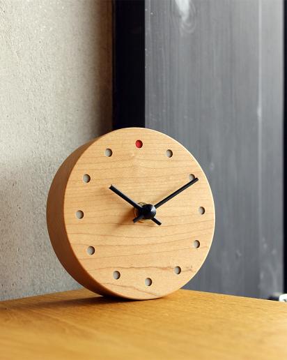 【ウェディング】時とともに風合い増す木の置時計「Wall Clock Mini」