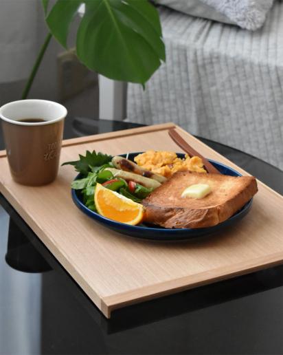 【New item!】木の素材感が引き立つミニマルデザインの木製トレイ「Serving Tray」