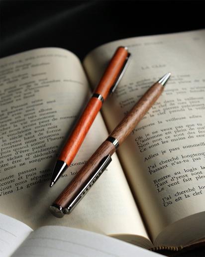 【送別ギフト】世界に一つだけの木製ボールペン「SLIM BALLPOINT PEN TWIST」
