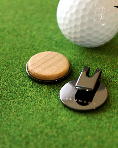 【送別ギフト】ゴルフが楽しくなる木製グリーンマーカー「Golf Marker」