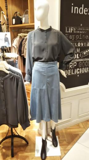 スウェードマーメイドスカート
